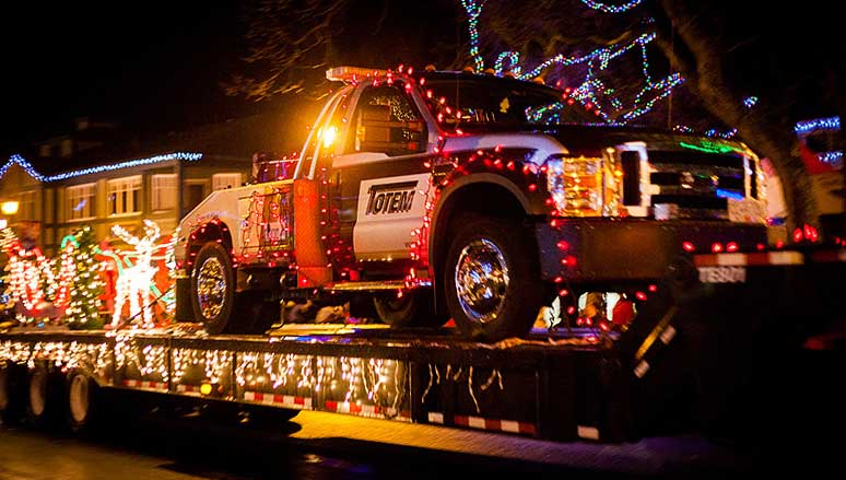 Christmas Parade with Totem Towing