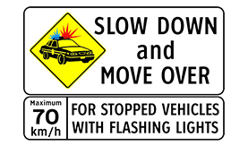slow down move over small sign