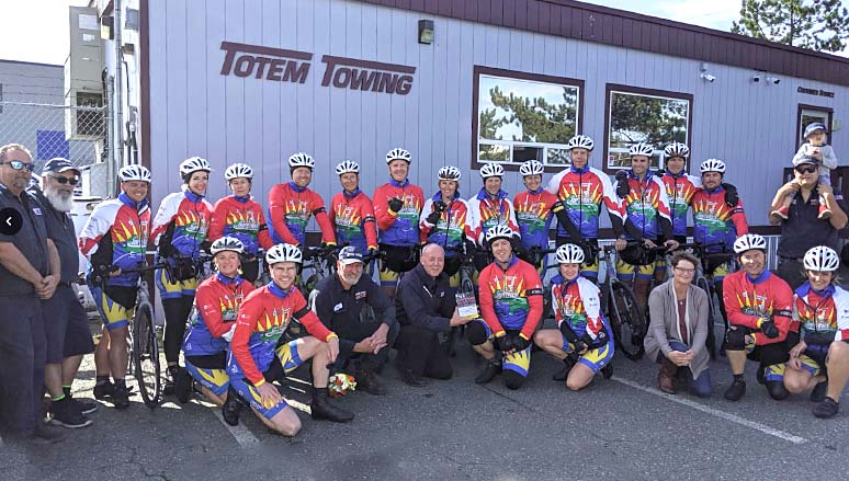 Totem Towing biking team