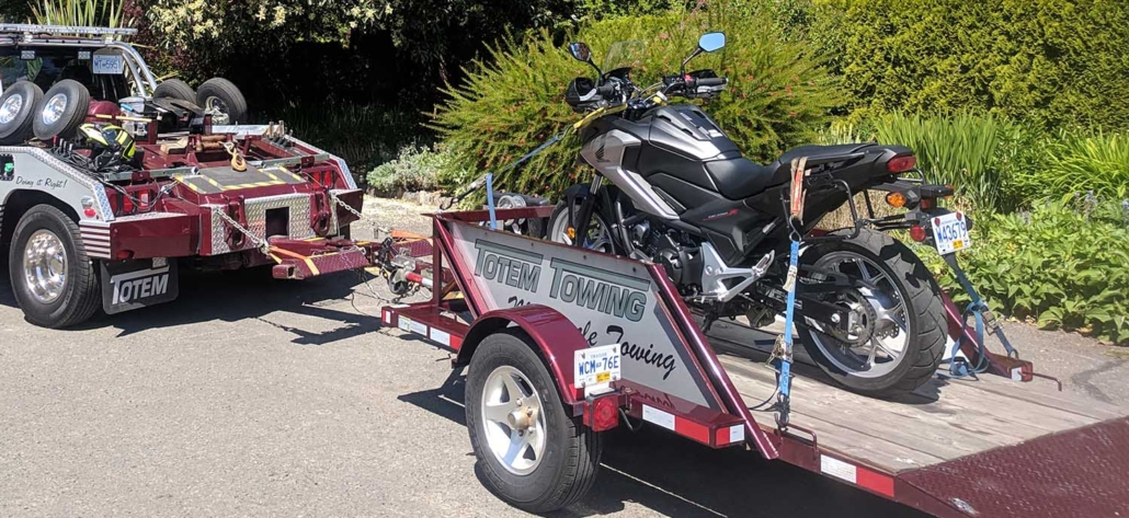 motor bike tow by Totem Towing